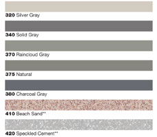 urethane grout color choices