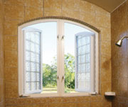 shower casement windows using acrylic blocks
