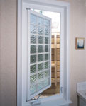 egress window using acrylic blocks