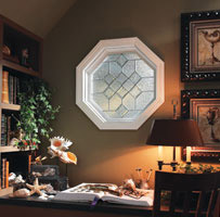 octagon home office window