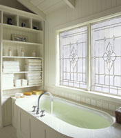 decorative glass soaker tub windows