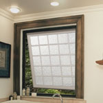 awning window in a bath remodel