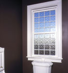 single hung acrylic block bath window