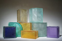 Assortment of frosted glass blocks