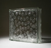 etched glass block with paw prints