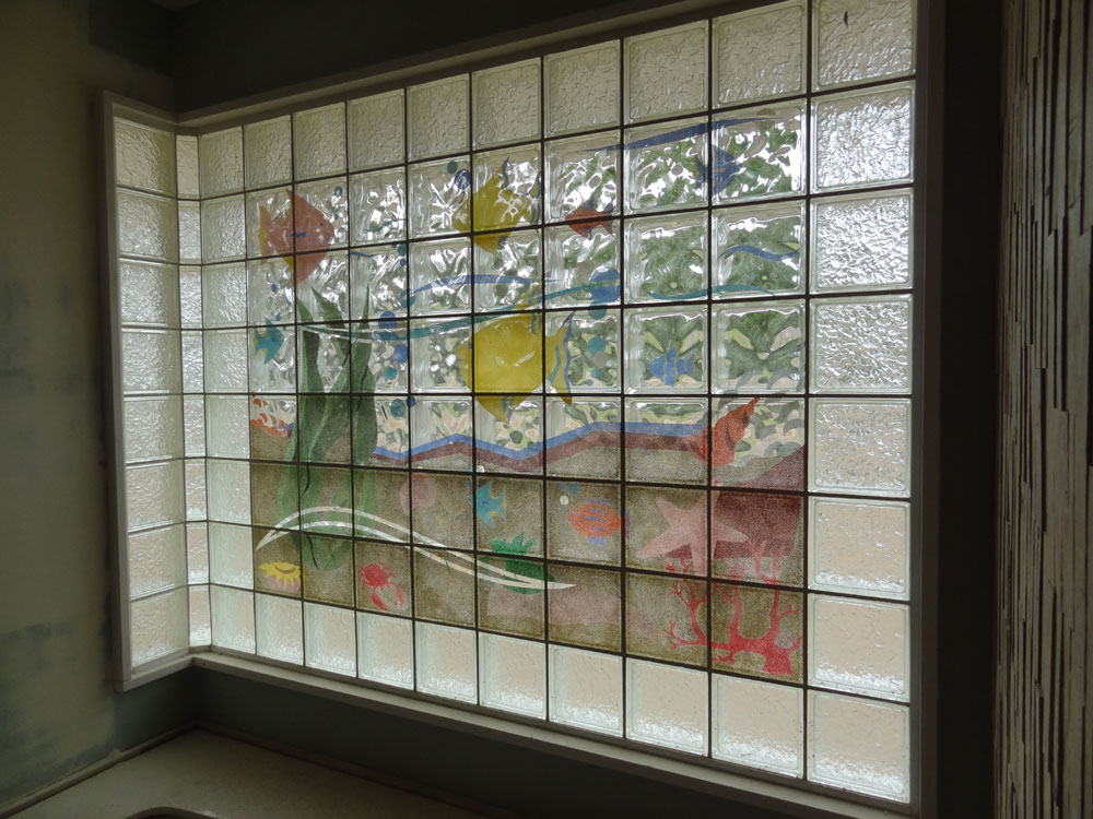 Basement bathroom garage glass block windows columbus for Acrylic block window
