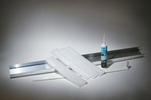 aluminum channels silicone and expansion strips