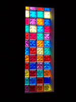 inside view of church windows with various colors