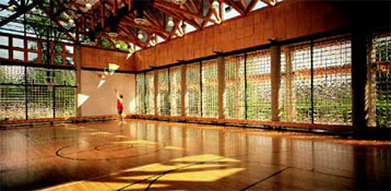 vistabrick solid glass blocks in a gymnasium
