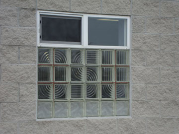 warehouse window with OSU pattern