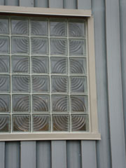 commercial window using spyra pattern for a circular pattern
