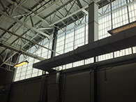 Warehouse windows at Central Ohio Transit Authority are using Kalwall diffuse light transmitting system