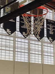 Large expanses can be covered with these energy efficient wall panels – Hiram College Gymnasium