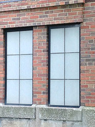 Shogi vertical pattern panels in 2 small replacement windows