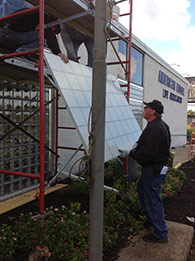 "1"" thick panel system being installed in a Cleveland, Ohio"