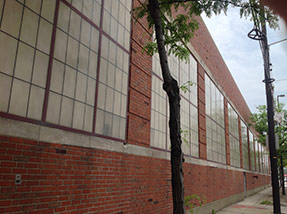Large windows at a Cleveland factory