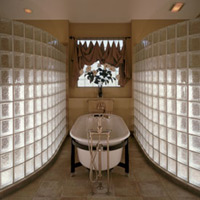 Curved glass block shower walls in columbus ohio parade of homes