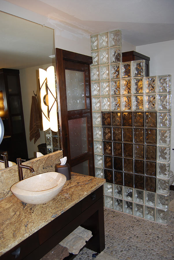 Ceramic Tile Shower >> Glass Block Shower Wall & Walk in Designs: Nationwide