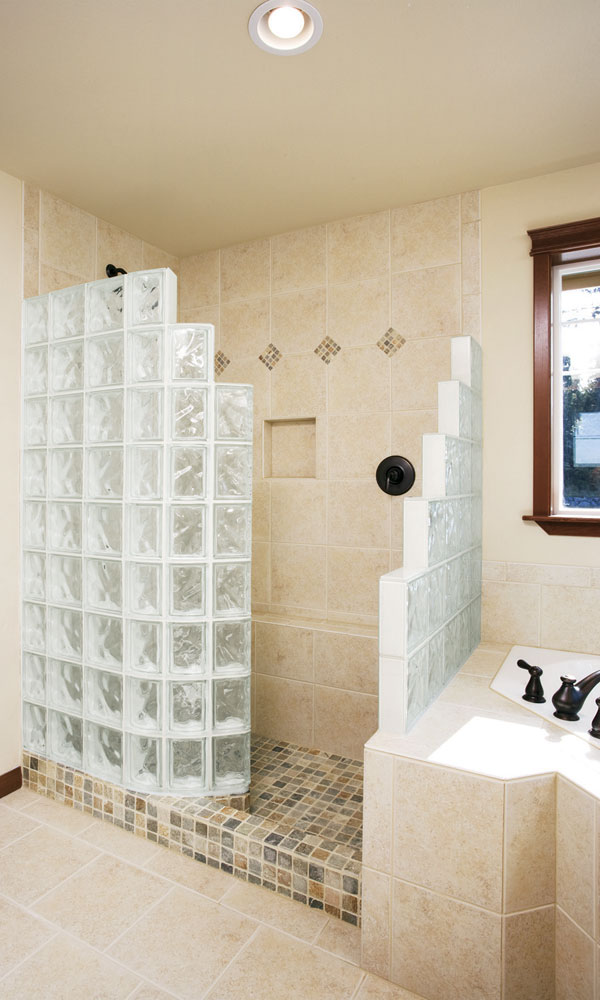 Glass Block Shower Wall Walk In Designs Nationwide Supply Columb