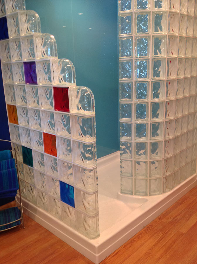 Glass Block Shower Wall Amp Walk In Designs Nationwide