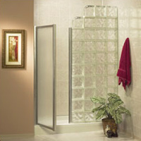 60 x 32 pittsburgh corning decora glass blocks and acrylic shower base