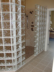 NEO angle shower using Tridron block