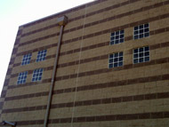 vistabrik solid glass blocks at a correctional building columbus ohio