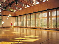 solid glass blocks in a gym in philadelphia pennsylvania
