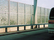 transit wall system with glass block