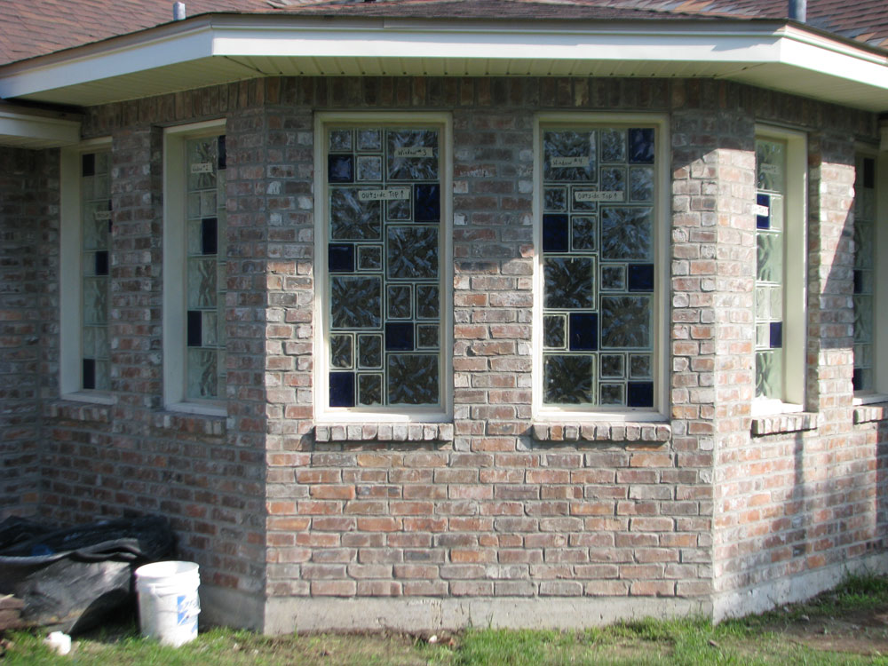 Vinyl Framed Custom Glass Block Windows Nationwide Supply