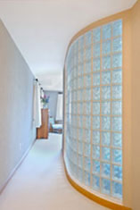 bedroom separation wall using glass blocks by columbus glass block