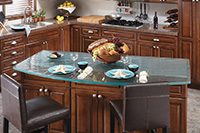 1 inch ultra clear wave texture pattern kitchen island