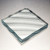 waves textured cast glass pattern