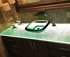 Fizzee textured bathroom counter