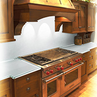 back painted kitchen countertop