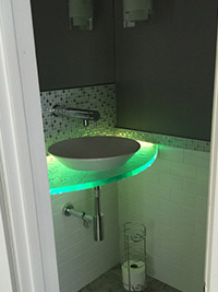 1 inch ultra clear tactile small counter with lighting