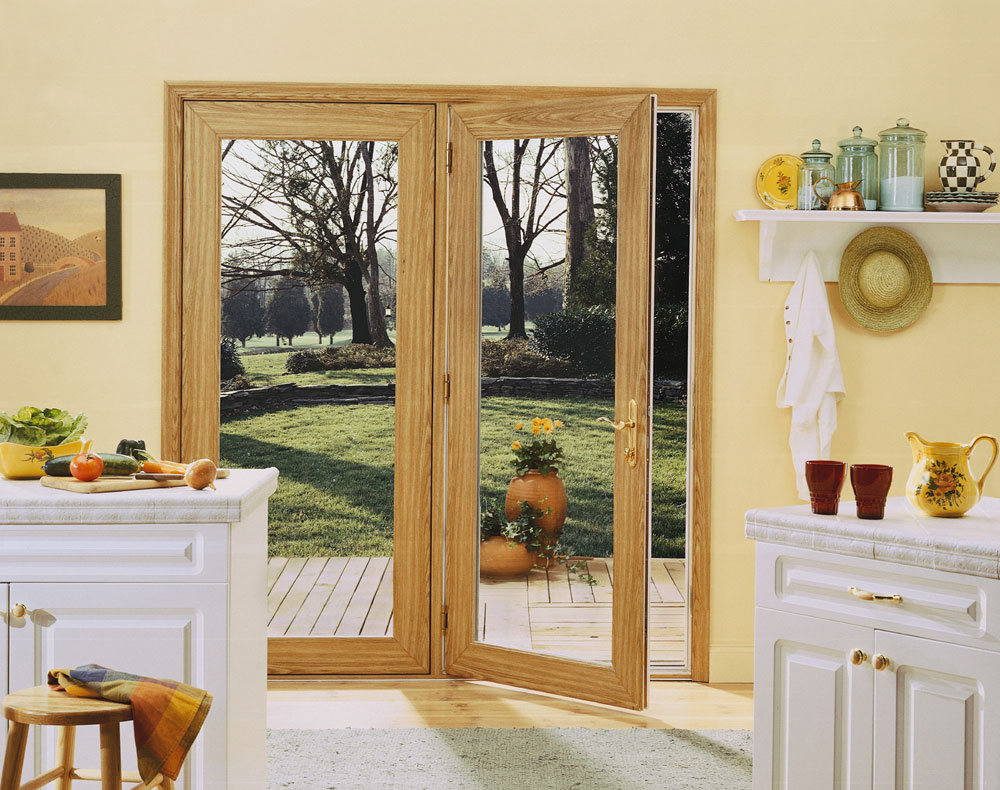 Sliding glass patio door french doors cleveland for Full glass patio door