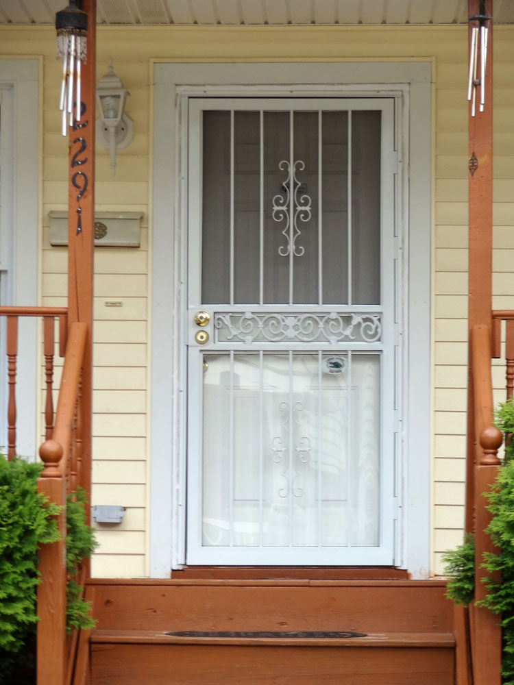 Steel Security Screen Amp Storm Door Front Doors Cleveland