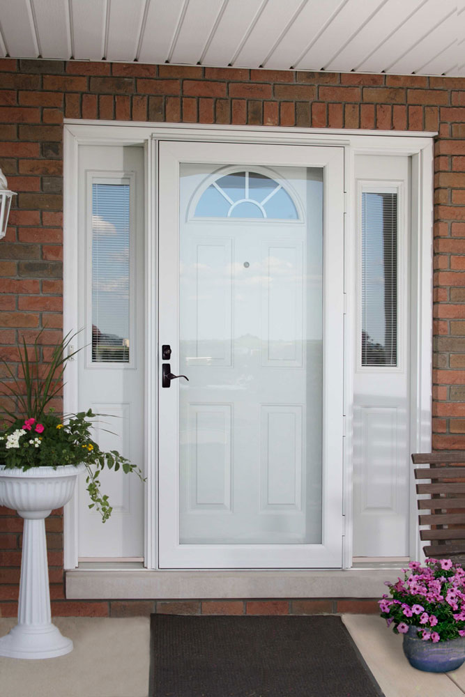Glass Storm Doors : Storm screen door larson provia doors cleveland