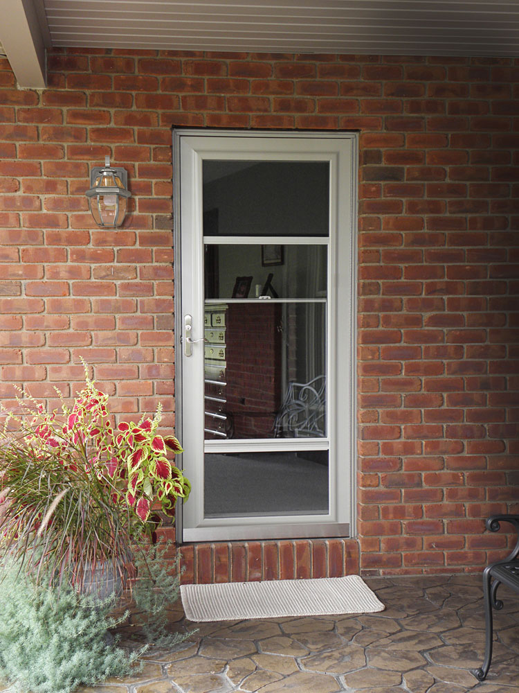 Storm screen door larson provia doors cleveland for Storm doors for french patio doors