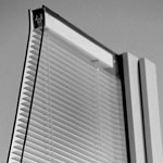 internal tilt mini blinds in a double hung window eliminates dust on blinds and cleaning