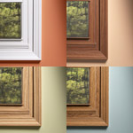 wood grain interiors used on vinyl replacement windows for style