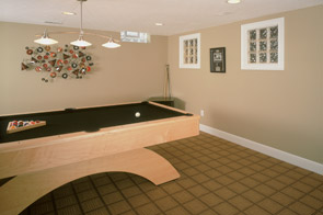 Recreation & Game Room in a Remodeled Basement in Cleveland