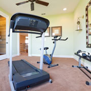 Workout and Exercise Room in a Basement in akron