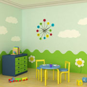 Kids playroom in a basement remodel akron