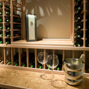 Wine Cellar in a basement remodel cleveland