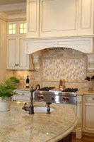 upscale kitchen remodeling project in cleveland with marble countertops