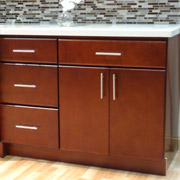 contemporary style kitchen cabinets with easy to open drawer pulls