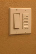Easy to operate light switches set 48 inches above the floor for handicap remodel