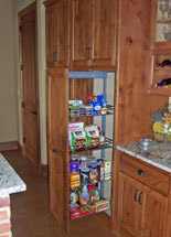 Kitchen pull out storage for improved access